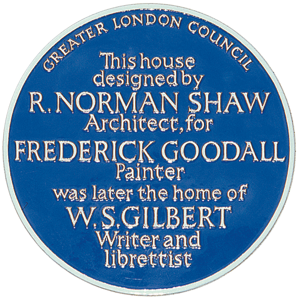 WS Gilbert Blue Plaque