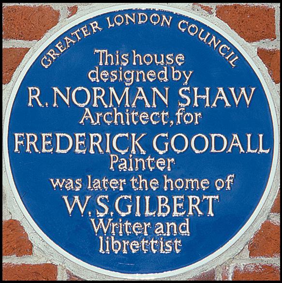 WS Gilbert Blue Plaque