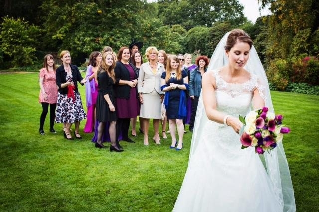 Throwing Wedding Bouquet