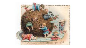 Children Victorian Christmas Card