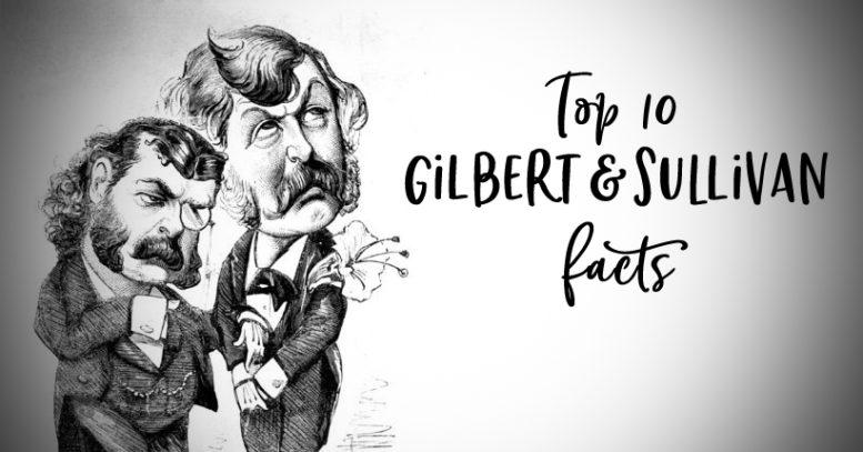 GILBERT & SULLIVAN. Sir Arthur Sullivan (left) and Sir William S